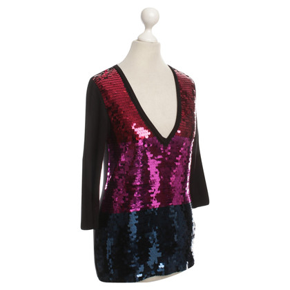 Armani Jeans top with sequin appliqués