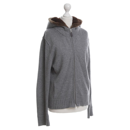 FTC Cardigan with fur trim