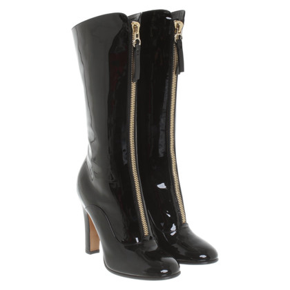 Valentino Patent leather boots in black