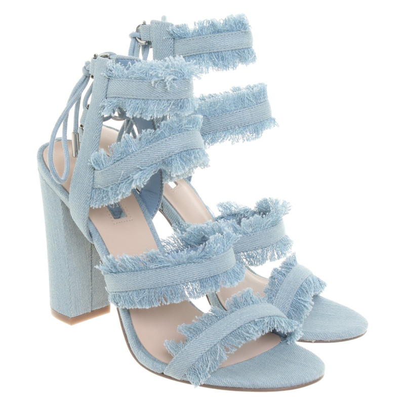 GuessSandalen Denim in Blauw Second handGuessSandalen Denim