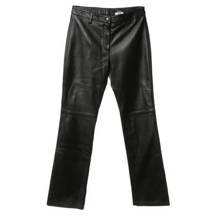 Ferre Lederen broek in zwart