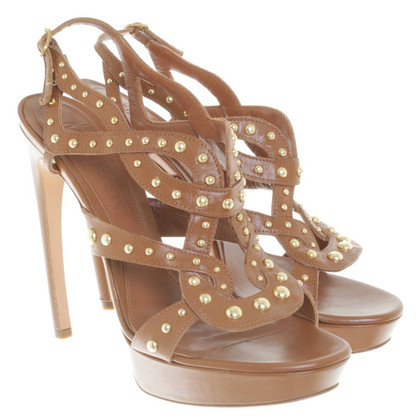 Alexander McQueen Stiletti a Brown