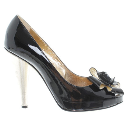 D&G Peep toe in vernice