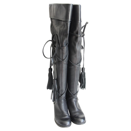See by Chloé Black over knee boots