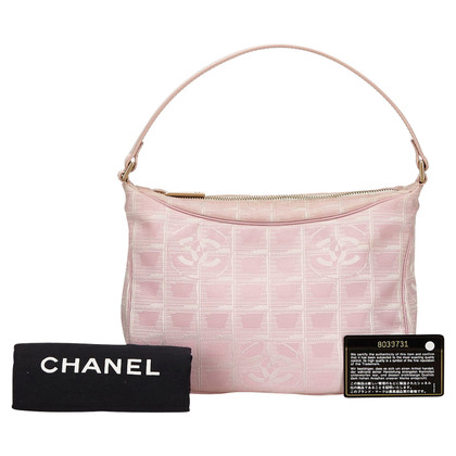 Chanel Jacquard Travel Line Handbag