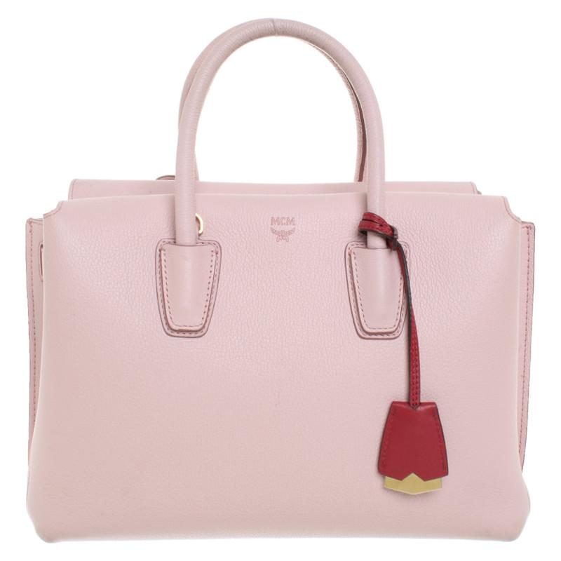 Mcm Handtasche aus Leder in Rosa Pink Second Hand Mcm