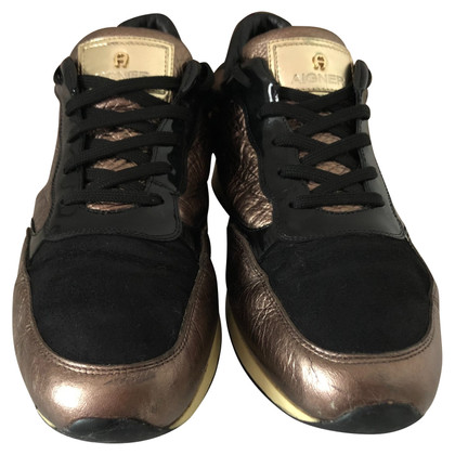 Aigner Sneakers met materiaalmix