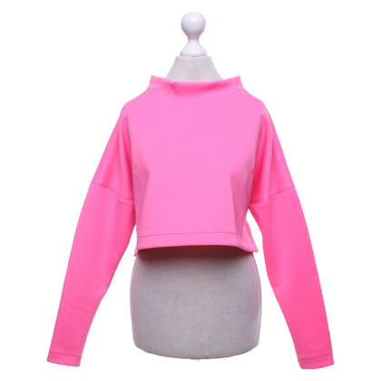 Philipp Plein Cropped sweatshirt in neon pink