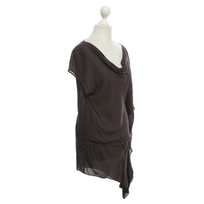 Helmut Lang Asymmetric Top in Dark Grey
