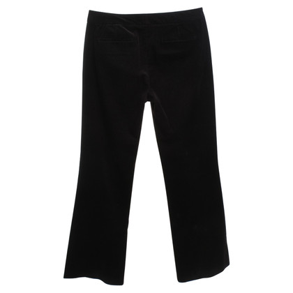 Elie Tahari pantaloni di velluto in colore marrone scuro
