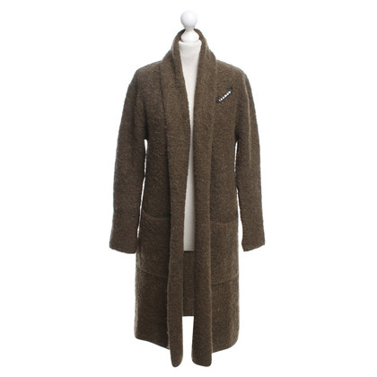 Maison Scotch Moss green knitted coat