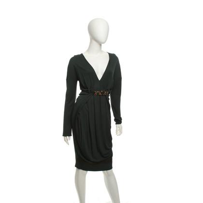 Roberto Cavalli Elegant dress in dark green