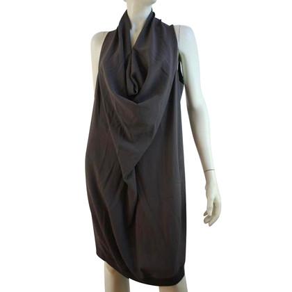 Gunex Robe grise en viscose et laine vierge