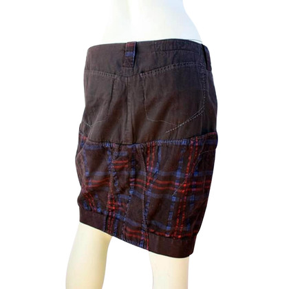 Marithé et Francois Girbaud skirt in brown / blue / red