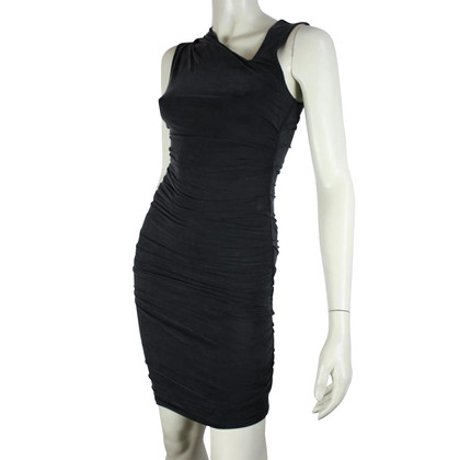 Helmut Lang Black pleated dress