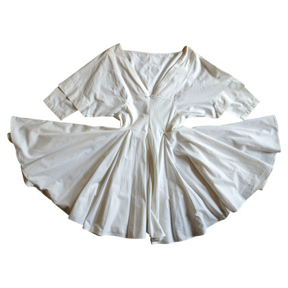 Alaïa Weißes Baumwollkleid