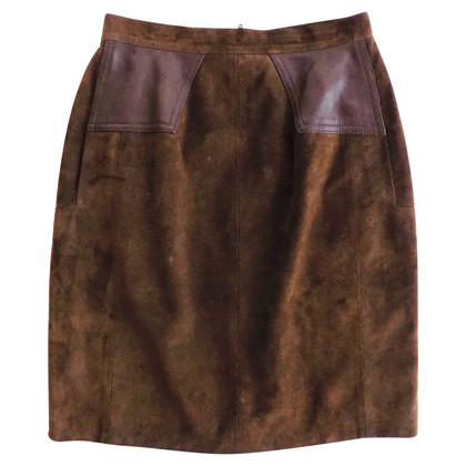 Guy Laroche Suede Gonna in Brown