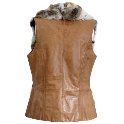 Hoss Intropia Leather/fur vest