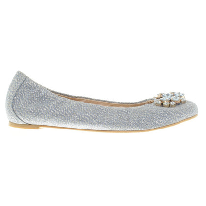 Russell & Bromley Ballerinas with jewelery