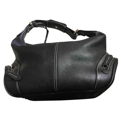 Tod's Black grained leather