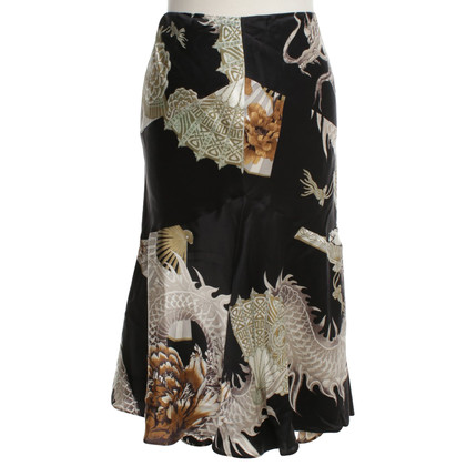 Roberto Cavalli Silk skirt with pattern