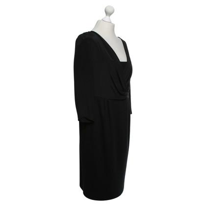 Windsor Zwarte zijden jurk / wol