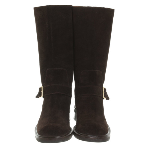 65b4af639 Gucci Boots Suede in Brown - Second Hand Gucci Boots Suede in Brown ...