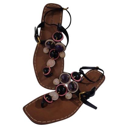 Miu Miu Miu Miu abbellito i sandali