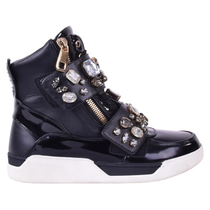 Dolce & Gabbana Sneakers with crystals black