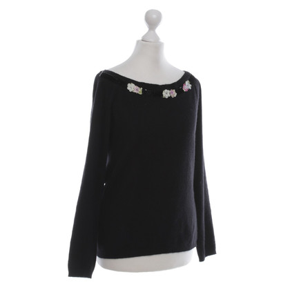 Blumarine Sweater with floral embroidery