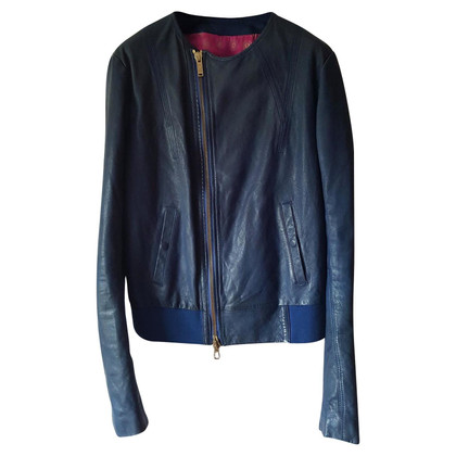 Iceberg Leather jacket in blue