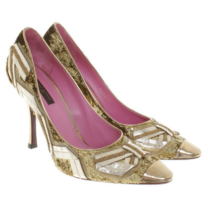 Louis Vuitton Goldfarbene Pumps