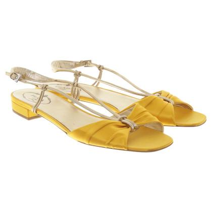 Prada Sandals in yellow / gold
