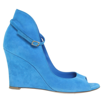 Gianvito Rossi Hellblaue Peeptoes