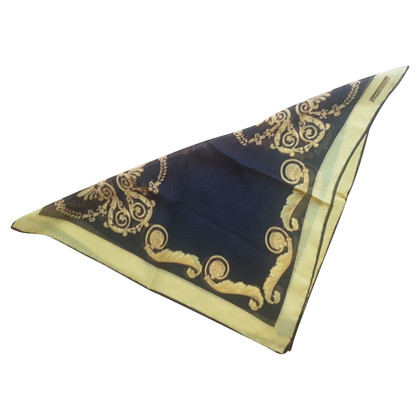 Gianni Versace Silk scarf with print