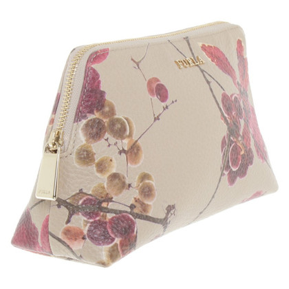 Furla Pochette with a floral pattern