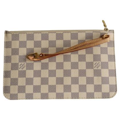 """Louis Vuitton """"Neverfull Pochette Damier Azur Canvas"""""""