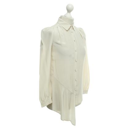 Patrizia Pepe camicetta di seta color crema
