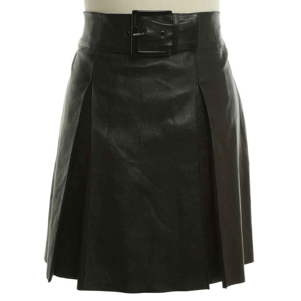 jitrois jupe en cuir noir acheter jitrois jupe en cuir noir second hand d 39 occasion pour 180 00. Black Bedroom Furniture Sets. Home Design Ideas