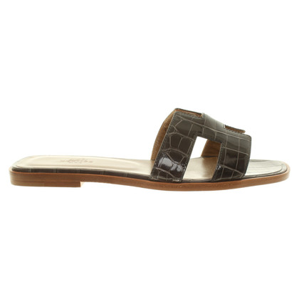 "Hermès Sandals ""Oran"" made of crocodile leather"