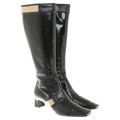 Pollini Boots patent leather