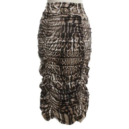 Roberto Cavalli skirt with leopard pattern