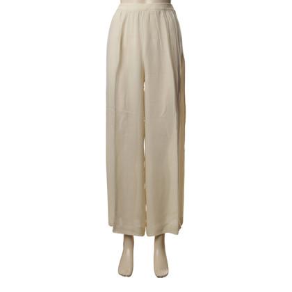 Christian Dior Chiffon broek in crème
