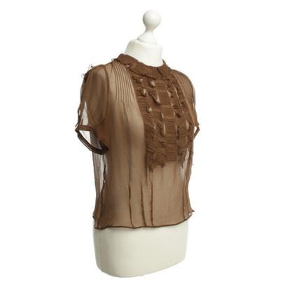 Chloé Zijden blouse in bruin