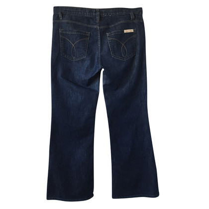 "Calvin Klein Donkerblauwe jeans ""Breed been Mid Rise"""