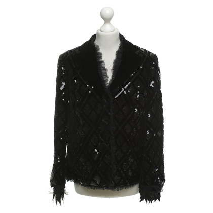Rena Lange Velvet blazer with sequin trim