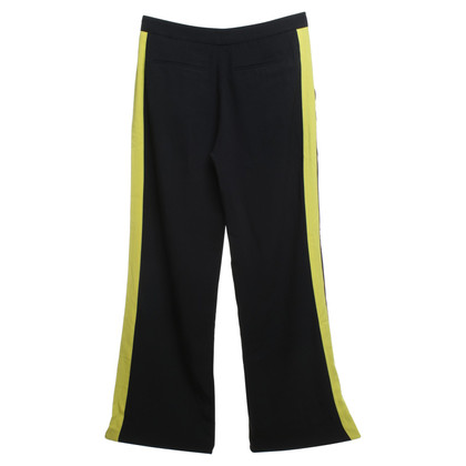 MSGM trousers in black / yellow
