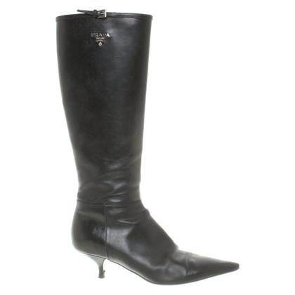 Prada Stiefel in Schwarz
