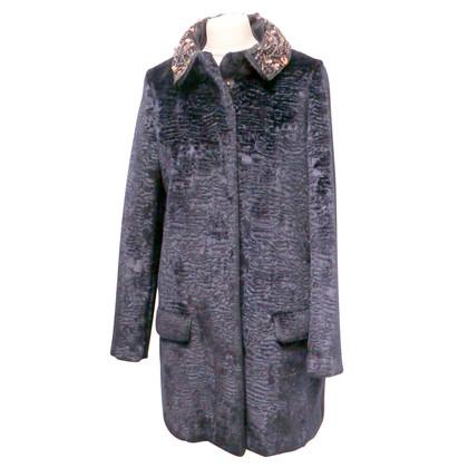 Twin-Set Simona Barbieri Faux fur coat in blue