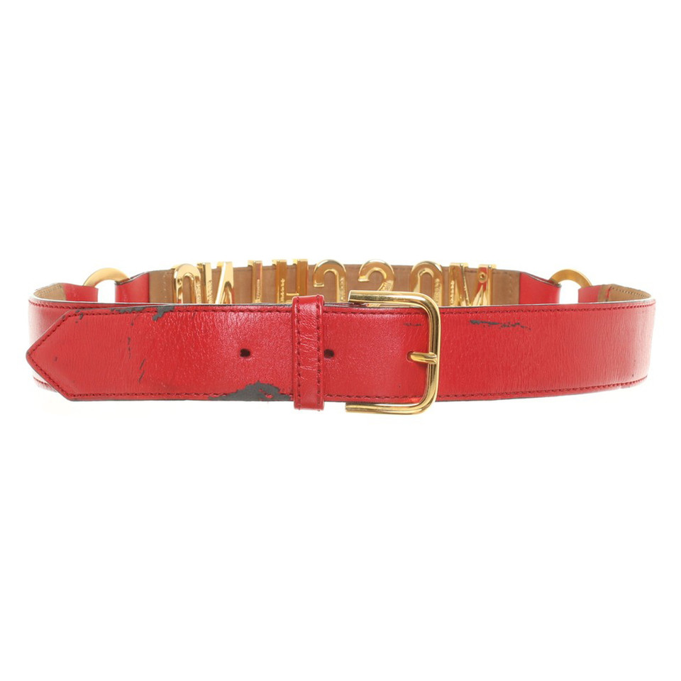 moschino leather belt in buy second moschino